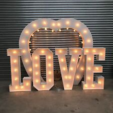 Giant 4ft LOVE Letters  Hand Made for Wedding Venues painted and ready to use