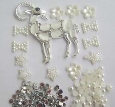 W31 silver Gem antelope DIY Cell Phone Iphone4 4/5/6S Crystal Case-Deco Den Kit