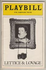 "Maggie Smith & Margaret Tyzack  ""Lettice & Lovage""  Playbill  1990  Broadway"