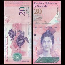 Venezuela 20 Bolivares, 2007-2011,  P-91, UNC