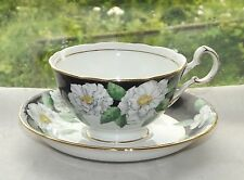 Royal Grafton Bone China Cabinet Cup & Saucer Dinant Pattern Black and White.
