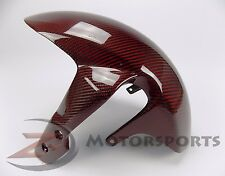 2006-2010 GSXR600 GSXR750 Front Tire Fender Wheel Fairing 100% Carbon Fiber Red