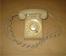 VINTAGE 1973 TELEPHONE - ITT – MADE IN GREECE – ROTARY DIAL - UNTESTED