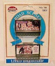 NOS Model Power Road Scenes 2 Lighted Billboards No. 700 HO Scale