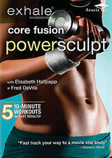 Exhale Core Fusion Power Sculpt Barre Style Workout Fitness Exercise DVD