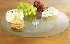 Glass Lazy Susan Modern 25cm Glass Cake Stand Rotating Cake Stand Cheese Plate