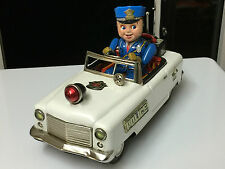 VINTAGE JAPAN TN NOMURA TINPLATE BATTERY OPERATED POLICE PATROL CAR