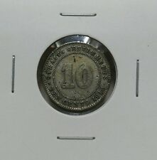 1918 - STRAITS SETTLEMENTS KING GEORGE V 10 CENTS