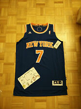 NWT Carmelo Anthony New York Knicks Away Blue Adidas R30 Swingman Men Jersey L