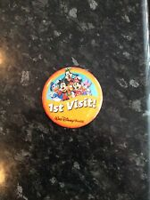 ORIGINAL DISNEY PARKS IST VISIT PIN BADGE FROM INSIDE DISNEY THIS YEAR