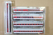 FLEISCHMANN 5182 8183 5184 5185 K RAKE x5 DB RED GREY IC INTERCITY COACH ng