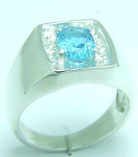 FLAWLESS BRAZILIAN NATURAL TOPAZ UNTREATED 1.85 CARATS IN SIZE S/9 SILVER RING