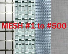 2pcs 400 Mesh, T316L Stainless Steel Wire Mesh, Size 60mm * 60mm  #V0B-1