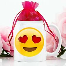 Personalised Emoji Smiley Face Mug & Chocolates Love Valentines Gift Cup VDM7