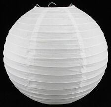 "16"" Chinese Japanese Paper Lantern Even Ribbing WHITE Party Wedding Decoration"