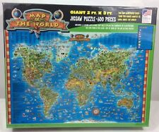 Map Of The World Jigsaw Puzzle Factory Sealed 2005 600 Pieces 2 Foot By 3 Foot