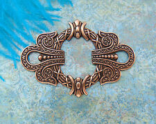 ANTIQUE COPPER (2 Pieces) Art Deco Frame Irish Celtic Stamping ~ Finding (E-4)`