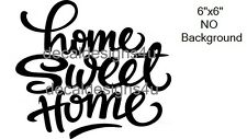 Home Sweet Home decal sticker for Glass Block Shadow Box