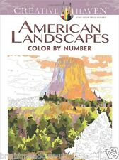 American Landscapes By Number Adult Colouring Book Nature Open Spaces Trees Sky