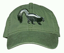 Striped Skunk Embroidered Cotton Cap NEW Hat Wildlife Pole Cat Mammal