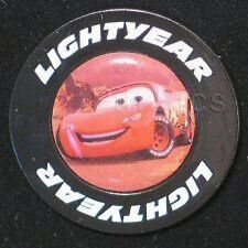 Disney Pin: Disney Store - Cars - Lightning McQueen in Lightyear Tire