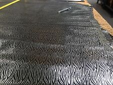 Silver Foiled Black Pattern Pig skin Leather Hide .5-0.7mm Exotic Metallic Craft