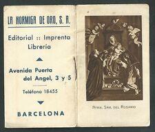 Librito antiguo de la Virgen del Rosario andachtsbild santino holy card santini