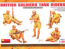 Miniart 1:35 British Soldiers Tank Riders WWII Era Figures Model Kit
