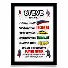 Birthday gift for Boyfriend Husband Son or any name Personalised A4 gloss print