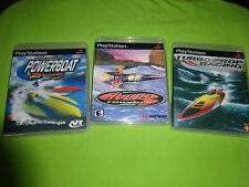 Empty Cases! Powerboat Turboprop Hydro Thunder Racing PlayStation 1 PS1 PS2 PS3