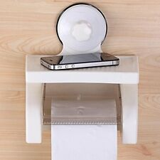 Toilet Paper Holder Tissue Roll Stand Box with Shelf Stand with Mobile Storage