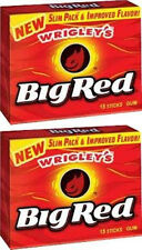 2 x American Wrigley's Big Red Cinnamon Bubble Chewing Gum Free UK Delivery