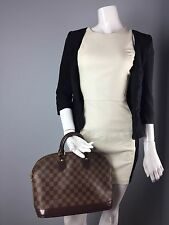 Authentic Louis Vuitton Damier Ebene Alma PM Bag Purse US SELLER