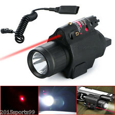 Tactical Led Flashlight & Red Laser Sight For Pistol Glock + The remote switch *