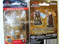 Dungeons & Dragons Nolzur's Marvelous - Unpainted Miniatures Human Male Wizard