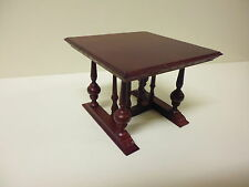 Quality 1/12th  Dolls House Furniture  Mahogany Table  2188MH