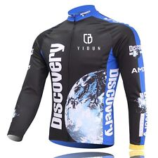 Discovery Channel Cycling Jerseys Long Sleeve Mountain Bike Bicycle Jersey Top