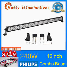 """PHILIPS 42""""INCH 240W LED LIGHT BAR SPOT FLOOD OFFROAD LAMP 4X4WD 24"""" DRIVING CAR"""