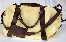 Costume National Designer Leather Holdall Bag