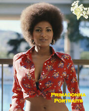 "PAM GRIER 8X10 Lab Photo COLOR Portrait 1974 film ""FOXY BROWN"" Busty Babe"