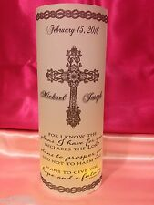 10 Personalized Baptism Christening Luminaries Table Centerpiece Decorations #1