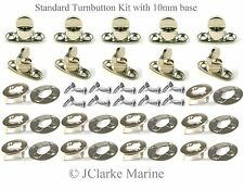 Standard Turnbutton 10mm kit with screws common sense fastener boat canopy cover