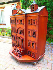 OPEN TO OFFER-Please bid as Ending-UNIQUE Solid Rosewood handmade Doll's house