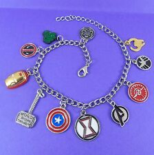 SUPERHERO CHARM BRACELET marvel avengers iron man captain america deadpool hulk