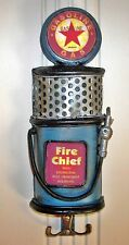 FIRE CHIEF GASOLINE RETRO GAS PUMP WALL HOOKS ~ NEW ~