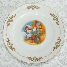 4 Vintage Christineholm Old Fashioned Christmas Elves Lars Carlson Salad Plates