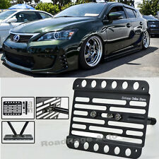 For 11-Up Lexus CT200H Front Bumper Tow Hook License Plate Relocator Bracket