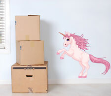 Pink Unicorn Wall Art Sticker Decal large princess horse girls bedroom decor