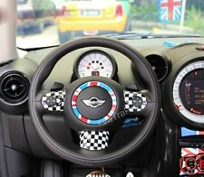 NEW for MINI COOPER COUNTRYMAN CHECKERED STEERING WHEEL COVER RACING BW FLAG
