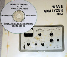 HP 302A  Wave Analyzer  Operating  & Service manual ( later printing )